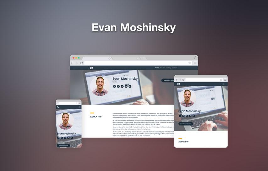 Evan Moshinsky responsive web design