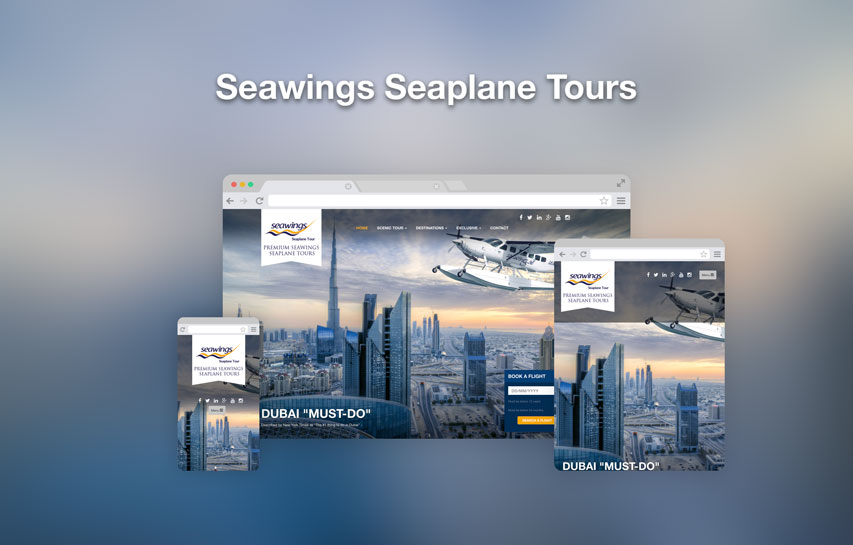 Seawings Seaplane Tours responsive web design