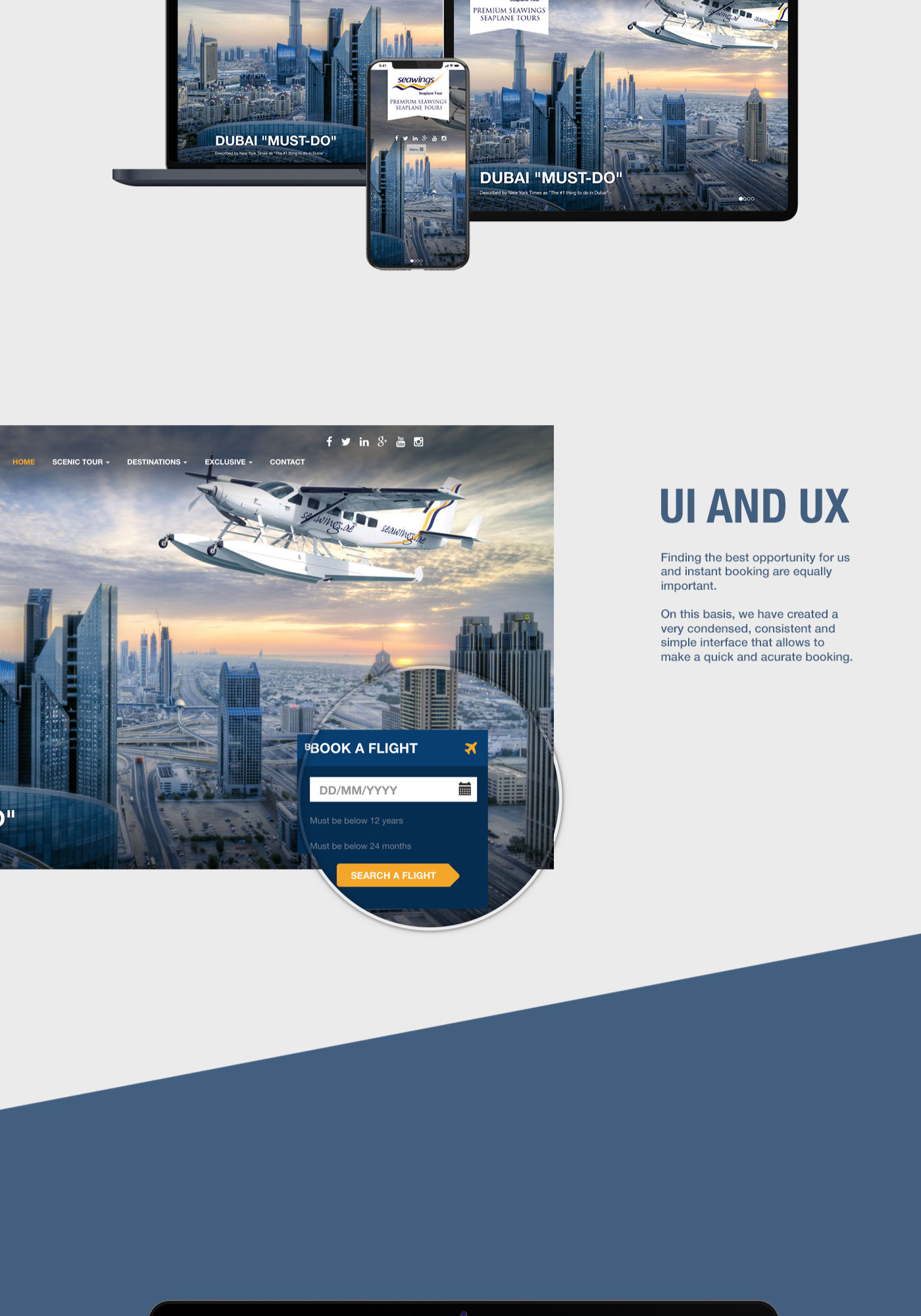 Seawings Seaplane Tours user interface and user experience importance
