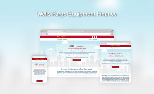 Wells Fargo Equipment Finance responsive web design