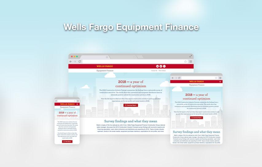 Wells Fargo Equipment Finance responsive web design