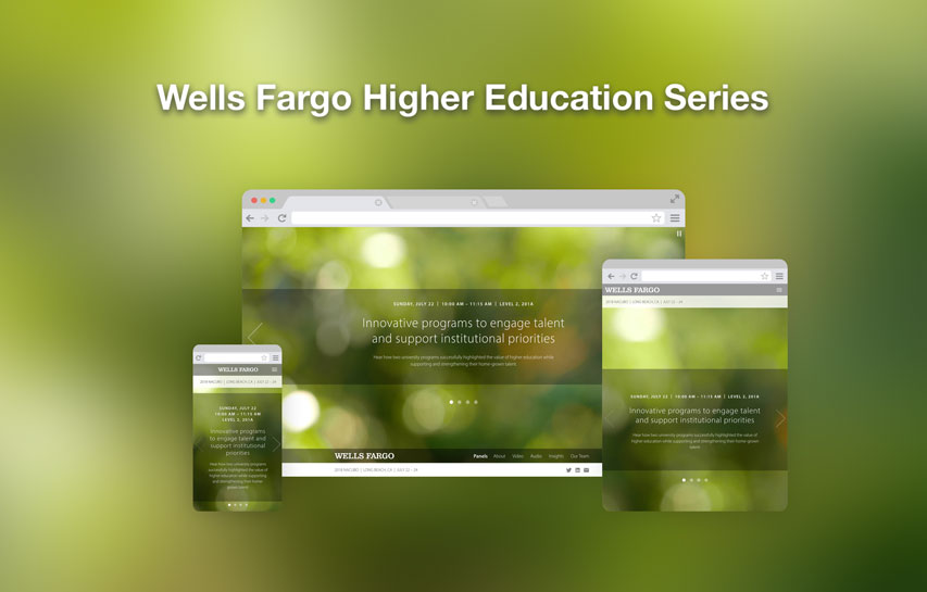 Wells Fargo Higher Education Series responsive design