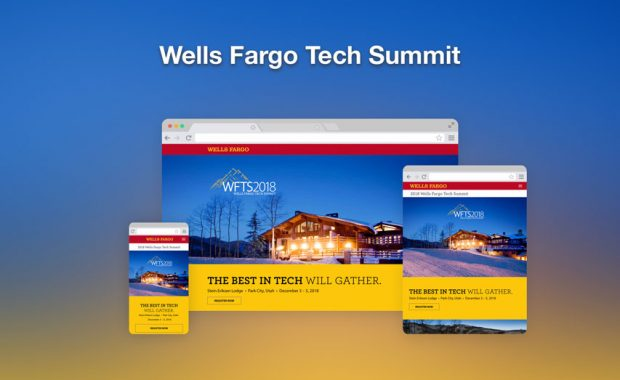 Wells Fargo Tech Summit responsive web design