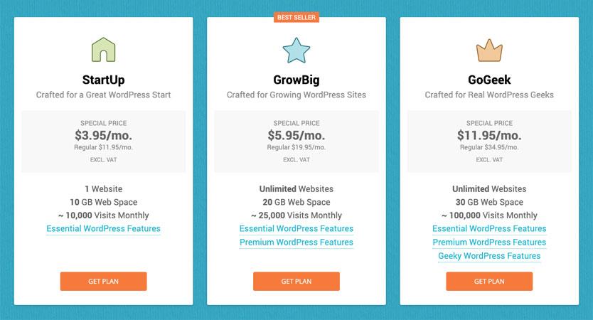 SiteGround Managed WordPress Plans