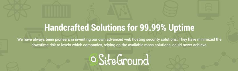 SiteGround Uptime 99.99%